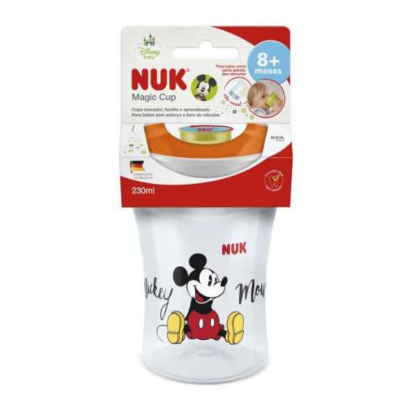 Copo Antivazamento Disney Magic Cup 230ml 360 Neutro, NUK