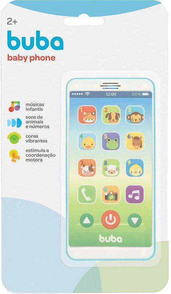 Telefone Infantil - Baby Phone - Azul - 2 anos+, Buba
