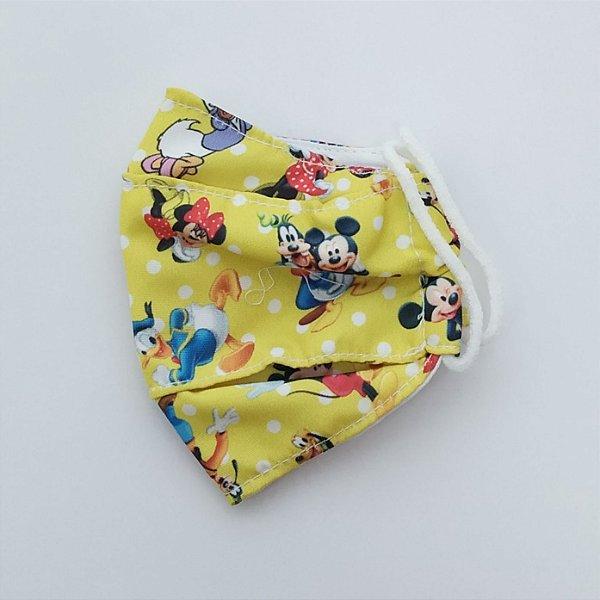 Máscara Infantil Amarela, Tam M, Reutilizável, Baby Central