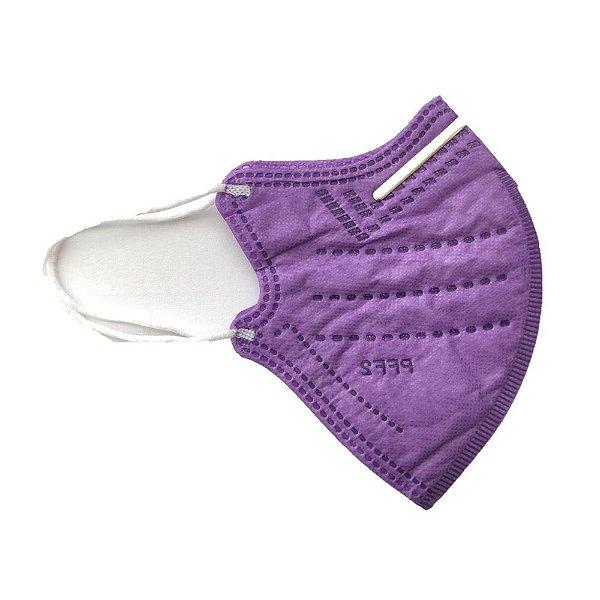 Máscara Infantil Descartável Cirúrgica PFF2 Lilás