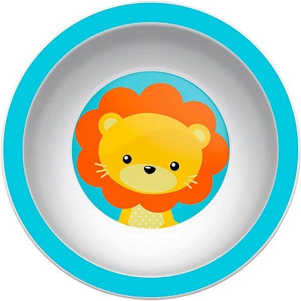 Pratinho de Bebê Bowl (Fundo) Animal Fun, 6m+, Leão - Buba