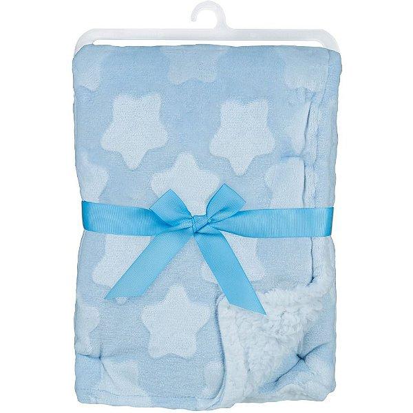 Mantinha para Bebê Star Azul, 100% Poliéster, 3m+, Buba