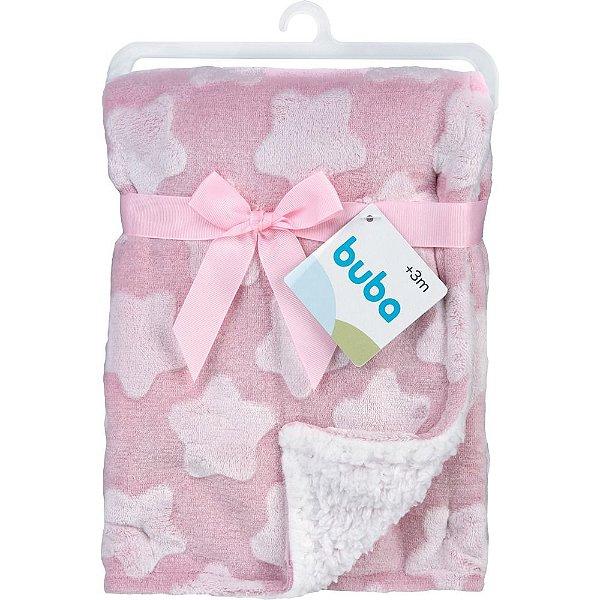 Mantinha para Bebê Star Rosa, 100% Poliéster, 3m+, Buba