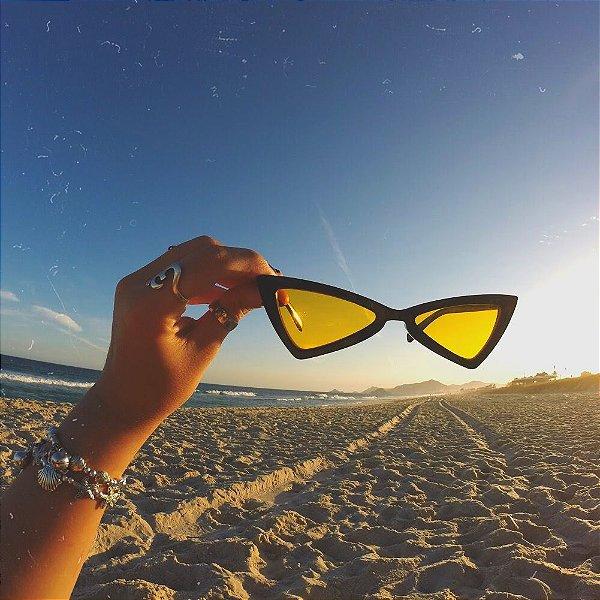 óculos retrô ibiza yellow