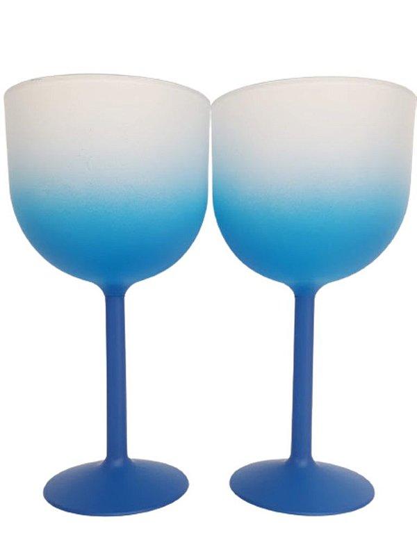 Taça de Gin Fosca Degrade Azul de 500 ml