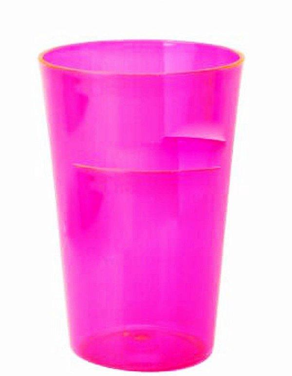 20 Copos Caldereta de 500 ml Em Acrílico Várias Cores Sem Estampa