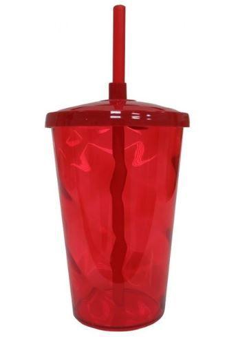 20 Copos Twister De 750 ml Em Acrílico Com Tampa e Canudo Várias Cores Sem Estampa
