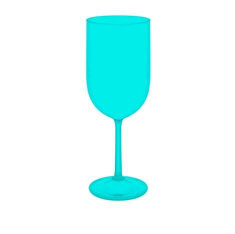25 Taças De Vinho De 400 ml Em Acrílico Sem Estampa