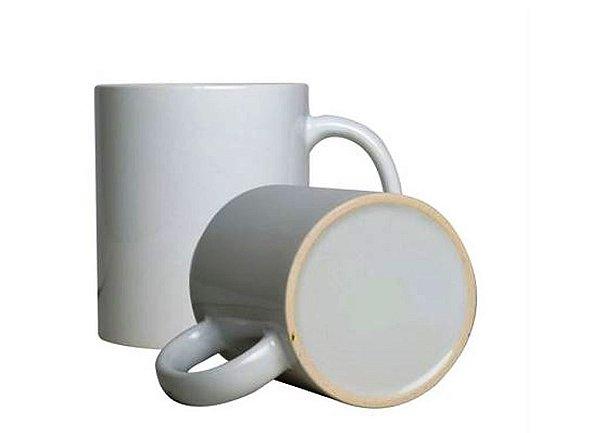36 Canecas de Cerâmica de 300 ml Branca Biona