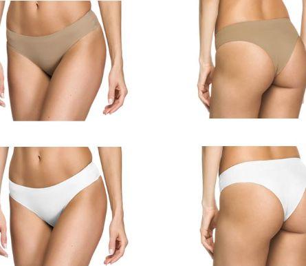 Kit 2 Peças Calcinha Tanga Nude Corte a Laser