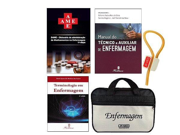Kit Enfermagem: Ame -Dicionário de Administração de Medicamentos  11ª Ed+ Manual do Técnico e Auxiliar+ Terminologia