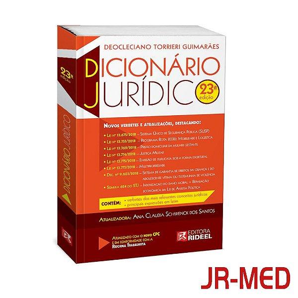 Dicionário Universitário Jurídico 23ª Edição - 2019