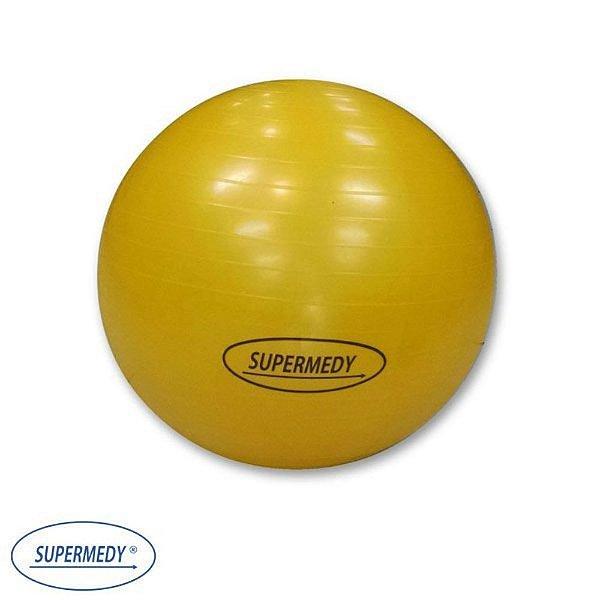 Bola Suíça 55 cm para Ginástica , Yoga , Pilates e Fisioterapia Amarela - Supermedy
