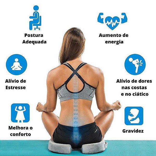 Almofada Anatômica Protetor De Cóccix Capa C/ Ziper Supemedy
