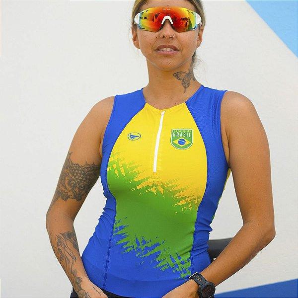 Top Triathlon Feminino Vezzo Brasil
