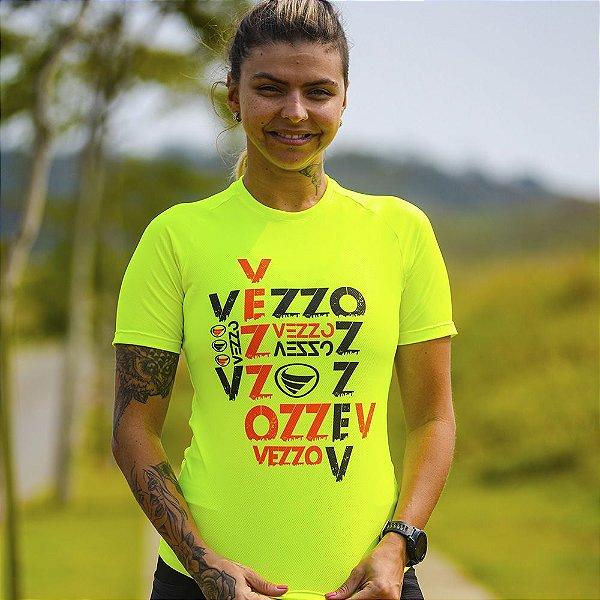 Camisa Running Feminina Baby Look Vezzo Rush