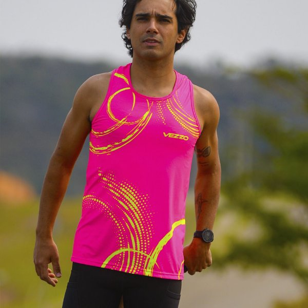 Regata Running Masculina Vezzo Neon