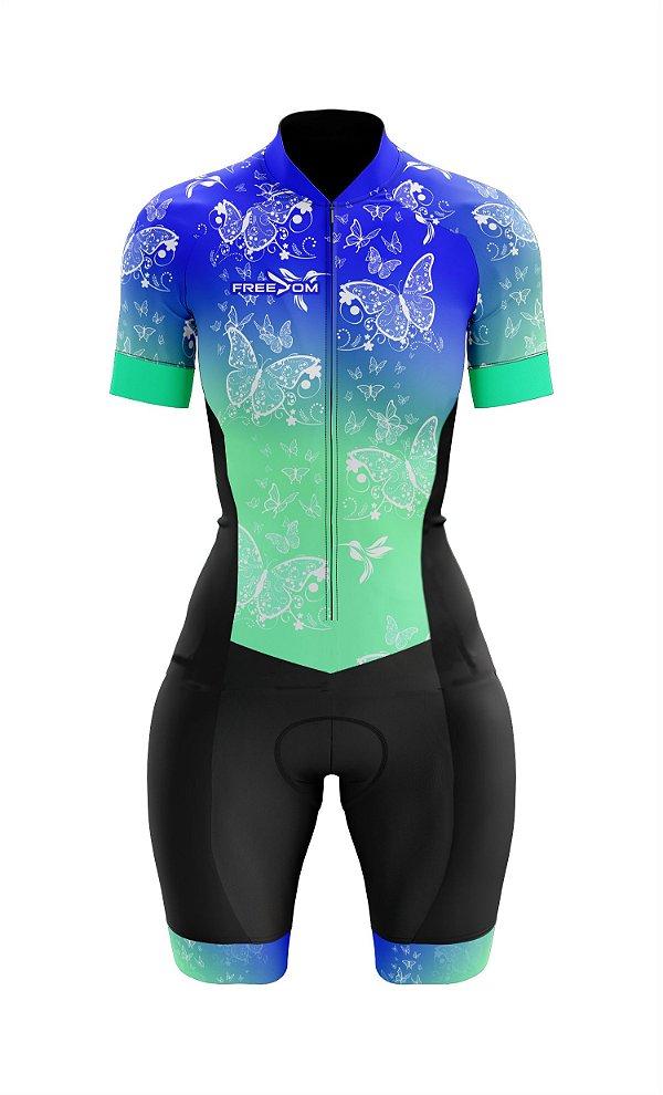 Macaquinho Ciclismo Freedom Borboletas