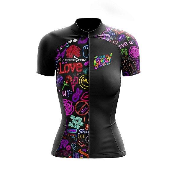 Camisa Ciclismo Feminina Freedom Love