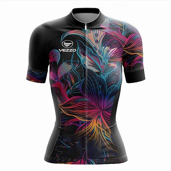 Camisa Feminina Ciclismo e MTB Vezzo Abstract