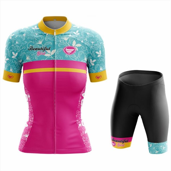 Conjunto Feminino Ciclismo e MTB Vezzo Beautiful Ride