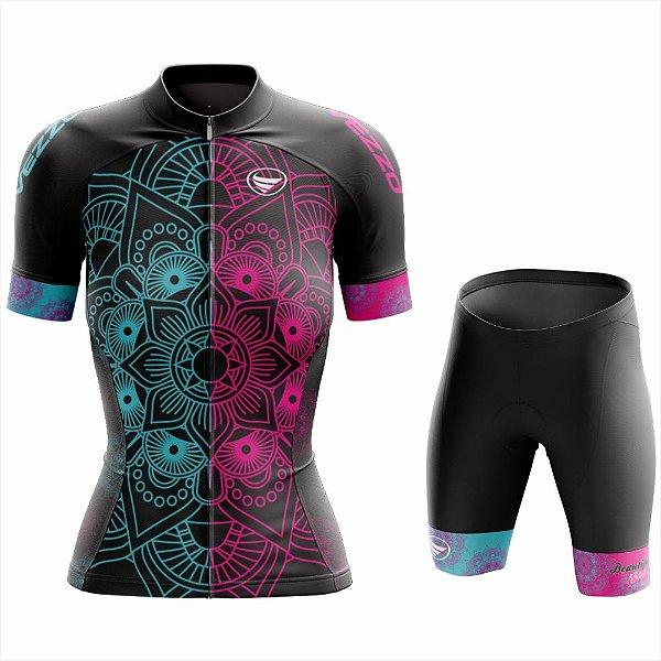 Conjunto Feminino Ciclismo e MTB Vezzo Mandala Color