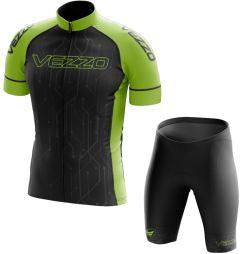 Conjunto Masculino Ciclismo e MTB Vezzo Techno Black