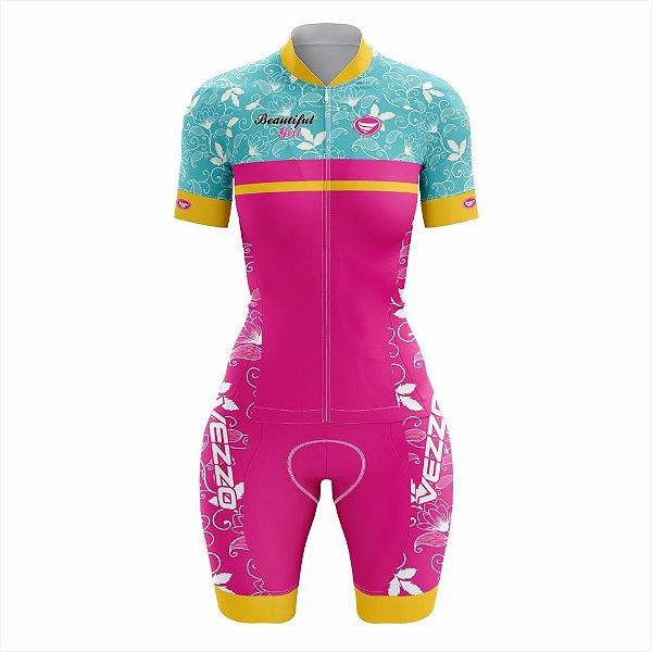 Macaquinho Feminino Ciclismo e MTB Vezzo Beautiful Ride