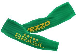Manguito Feminino Ciclismo Vezzo Brasil Verde