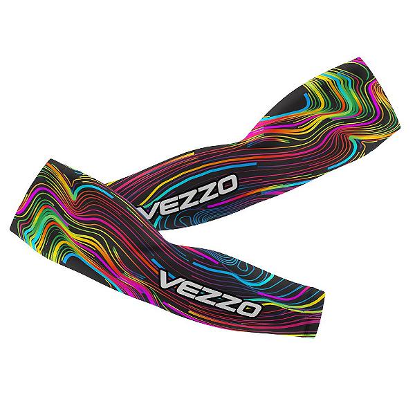 Manguito Feminino Ciclismo Vezzo Color Lines Black