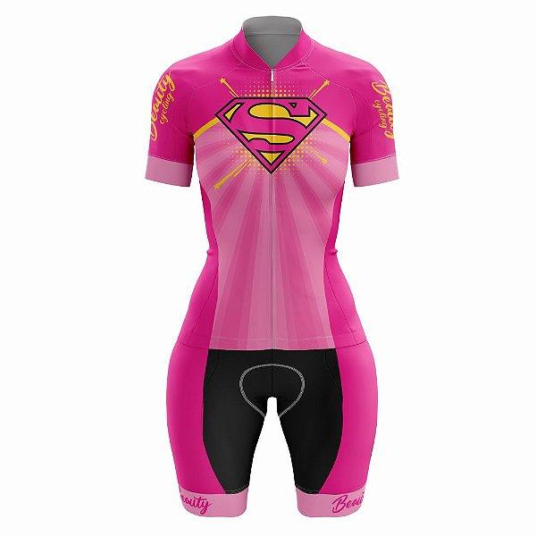 Macaquinho Feminino Ciclismo Beauty SuperGirl