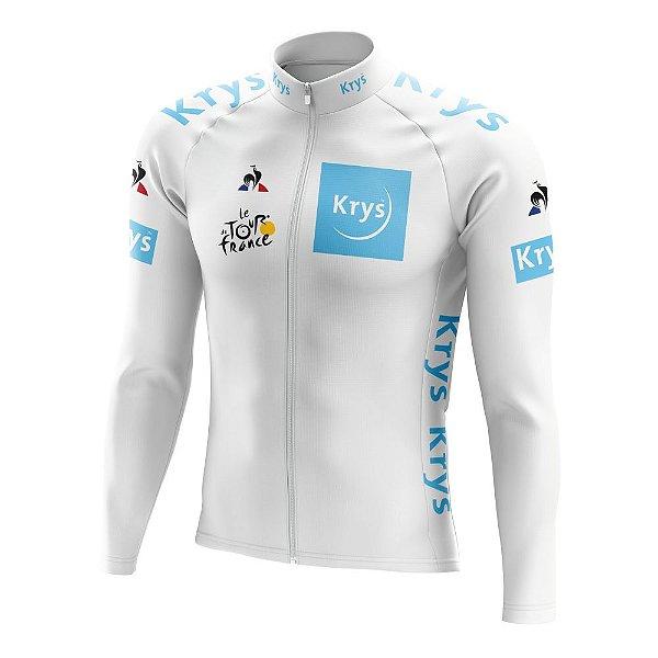 Camisa Manga Longa Ciclismo Tour de France Branca - Young