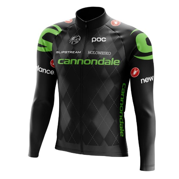 Camisa Manga Longa Ciclismo Mtb Bike Cannondale Preta World Tour