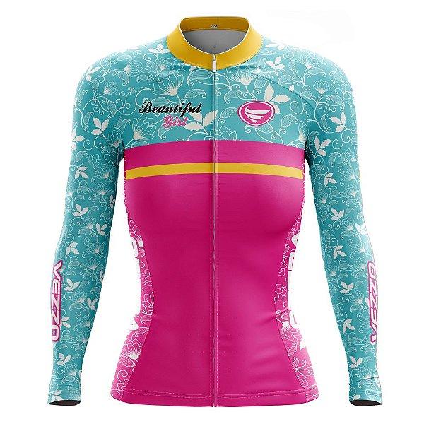 Camisa Feminina Ciclismo Manga Longa Vezzo Beautifull Ride