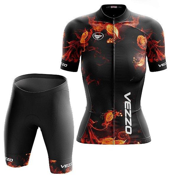 Conjunto Feminino Ciclismo e MTB Vezzo Fire