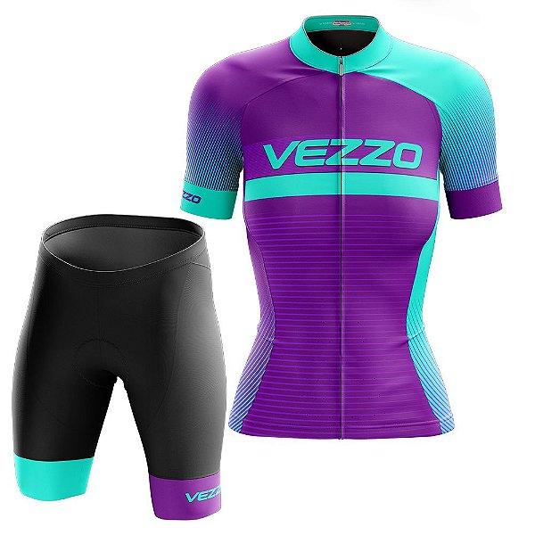 Conjunto Feminino Ciclismo e MTB Vezzo Pro Ride