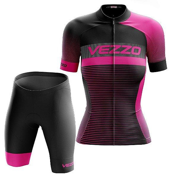 Conjunto Feminino Ciclismo e MTB Vezzo Pro Bike