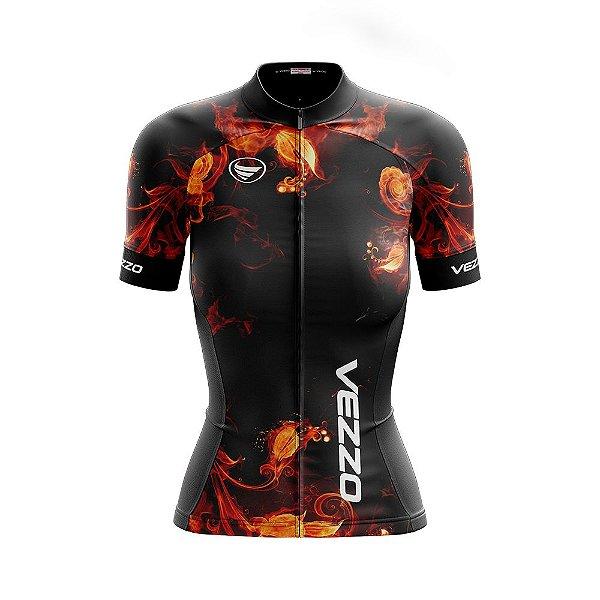 Camisa Ciclotour Feminina Vezzo Fire