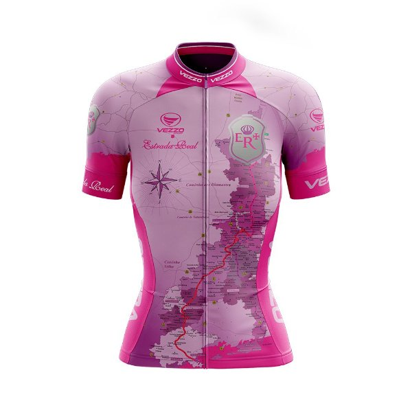 Camisa Ciclotour Feminina Vezzo Estrada Real Rosa