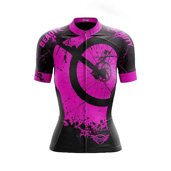 Camisa Feminina Ciclismo Beauty Hardway P - Fluor Effect