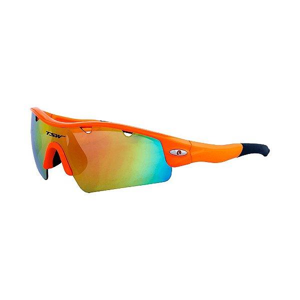 Óculos De Ciclismo TSW ALUX Proteção UV 400 - Laranja - Roupas Bike b71dbff10b