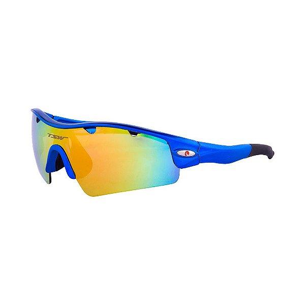Óculos De Ciclismo TSW ALUX Proteção UV 400 - Azul