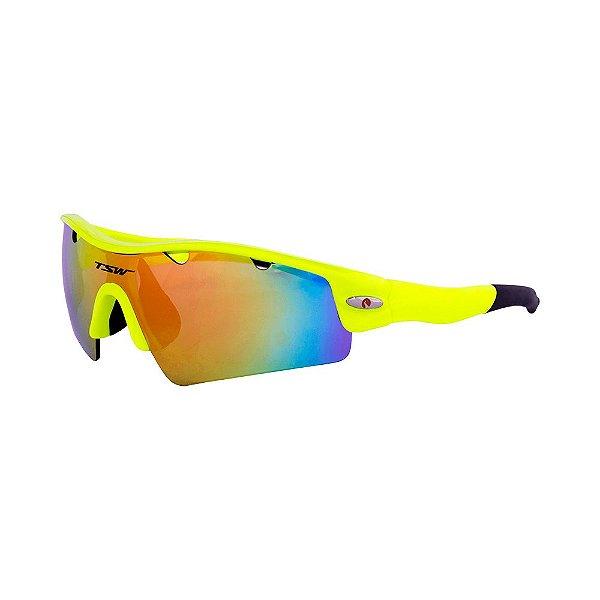 2bd87fb3c Óculos De Ciclismo TSW ALUX Proteção UV 400 - Amarelo - Roupas Bike