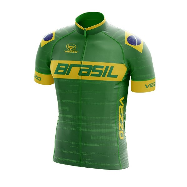 Camisa Masculina Vezzo Brasil 2019 Verde - LANÇAMENTO
