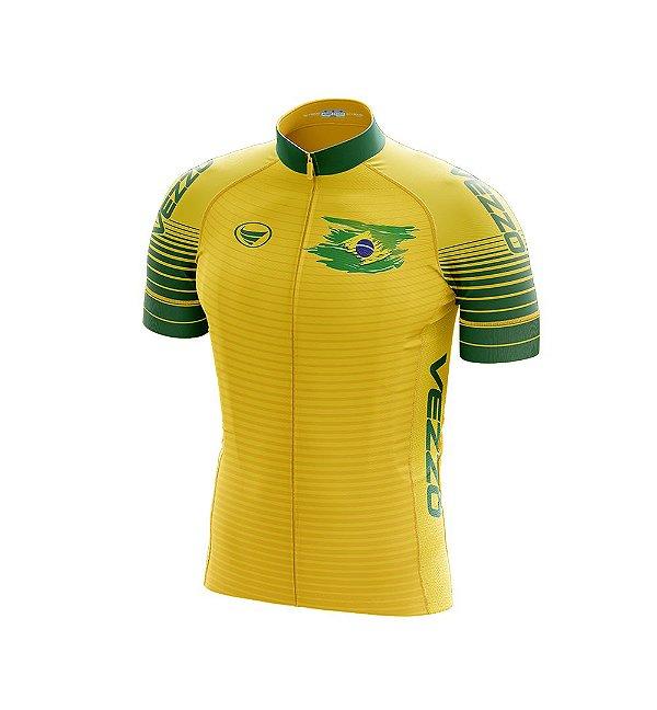 Camisa Masculina Vezzo Brasil 2018 Amarela