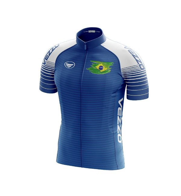Camisa Masculina Vezzo Brasil 2018 Azul