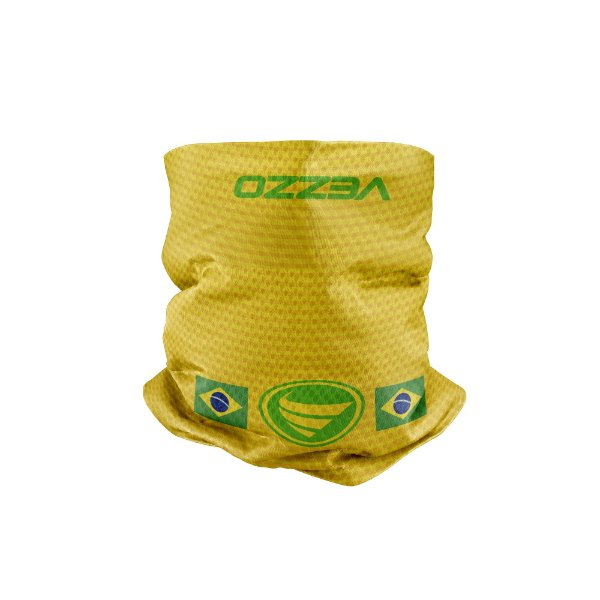 Bandana Multihead Vezzo Brasil Amarela