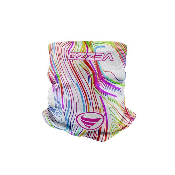 Bandana Multihead Vezzo Color Lines White