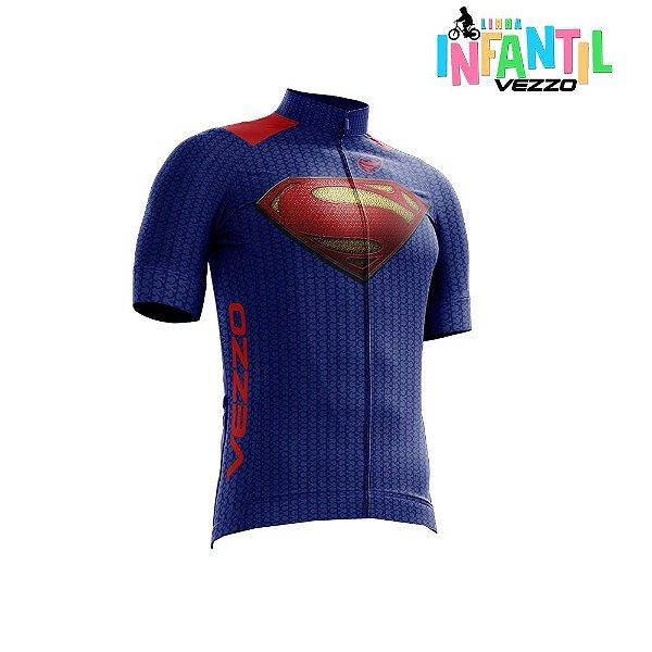 Camisa Ciclotour Infantil Menino Vezzo Superman