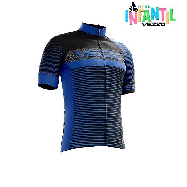 Camisa Ciclotour Infantil Menino Vezzo Storm Pro Cycle Blue